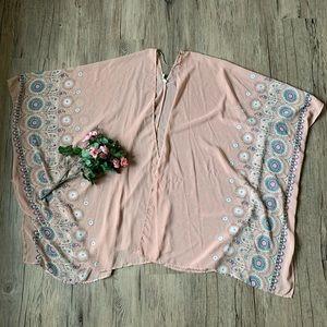 Pinkblush Chiffon Kimono
